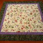 Delicate Flowers Quilted Ta..