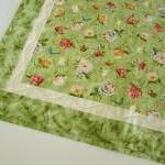 Green Floral Quilted Table ..