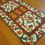 Colorful Leaves Quilted Tab..