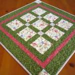 Table Topper Floral Squares