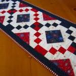 Quilted Table Runner Firewo..