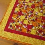 Quilted Table Topper Blosso..