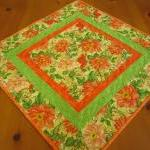 Quilted Table Topper Peach ..