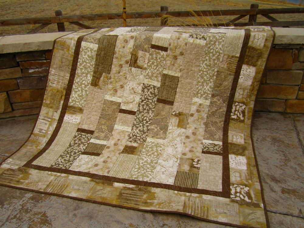 Handmade Quilt Contemporary Neutral