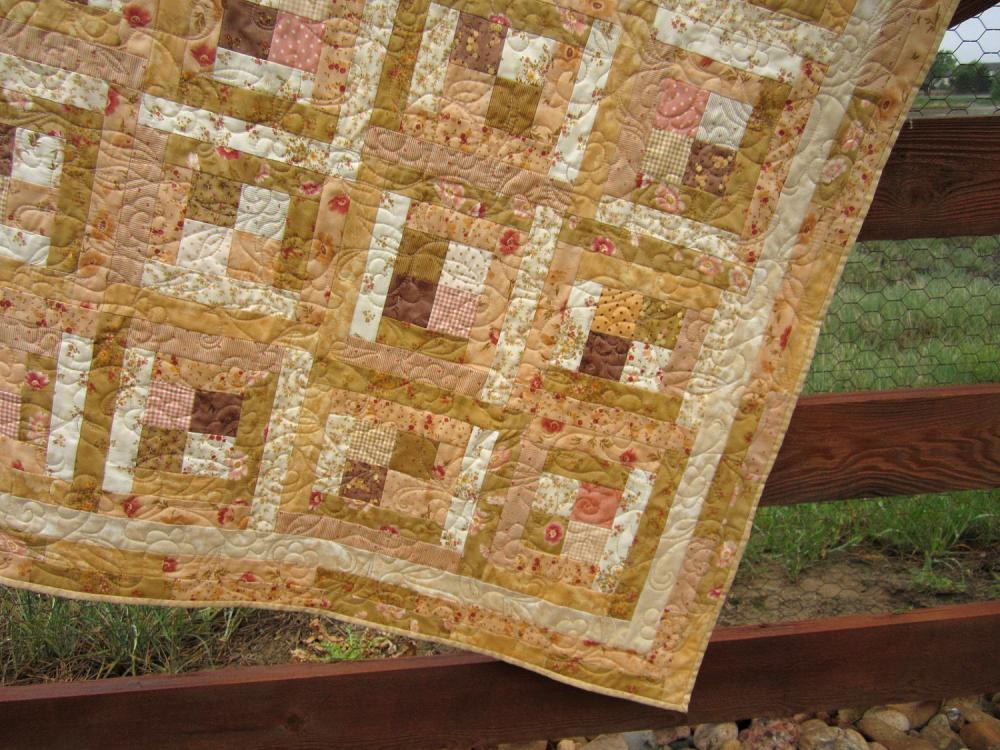 Handmade Quilt Peaches and Cream