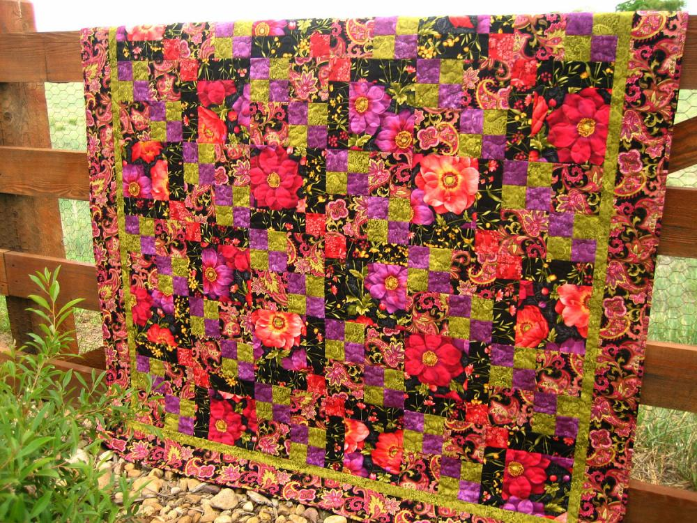 Floral Fusion Handmade Quilt