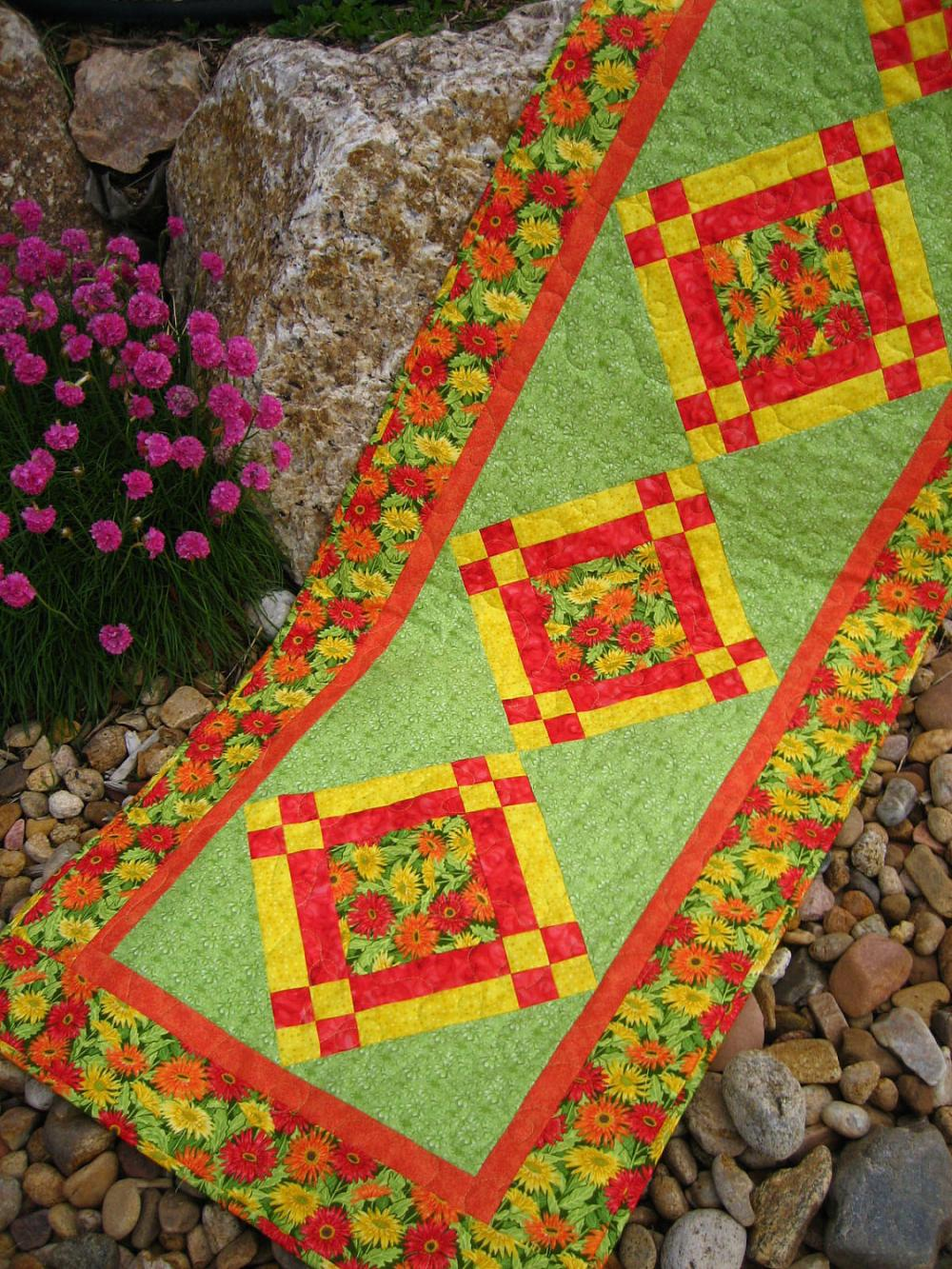 Colorful Flowers Table Runner