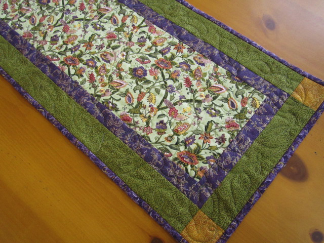 Quilted Table Runner Florals