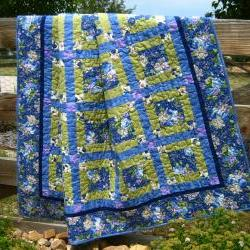Flowers in Bloom Handmade Quilt