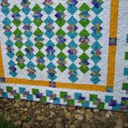 Stunning Colors Handmade Quilt