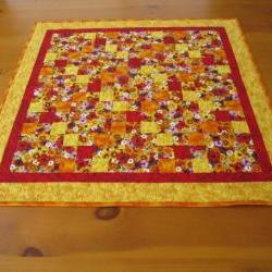 Quilted Table Topper Blossoms